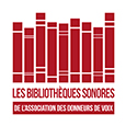 Logo de l'association des donneurs de voix, les bibliothèques sonores