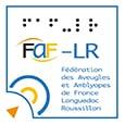 Logo de la Fédération des Aveugles et Amblyopes de France Languedoc-Roussillon