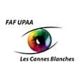 Logo de la Fédération des aveugles et handicapés visuels de France, union provençale des aveugles et amblyopes Les Cannes Blanches