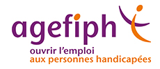 Logo de l'Agefiph, ouvrir l'emploi aux personnes handicapées