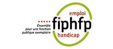 Logo Fiphfp, emploi, handicap. Ensemble pour une fonction publique exemplaire.