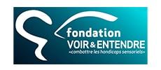 Logo de la fondation Voir et Entendre, combattre les handicaps sensoriels