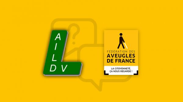 Logo AILDV et Aveugles de France